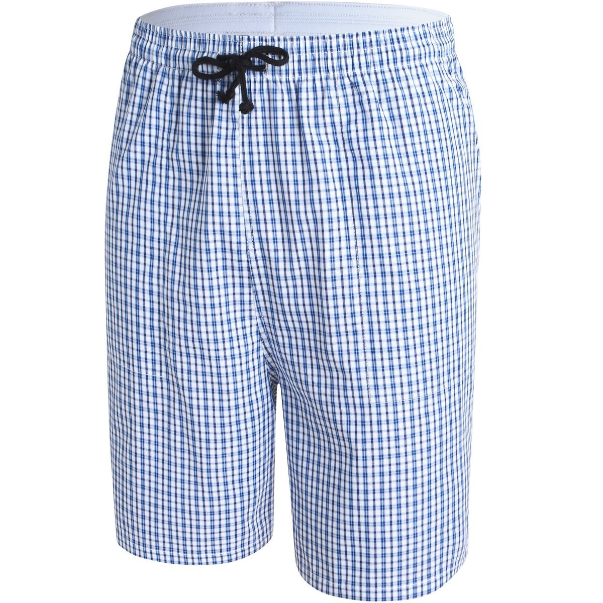 JINSHI Mens Lounge/Sleep Shorts Plaid Poplin Woven 100% Cotton 3Pack 2XL by JINSHI (Image #1)