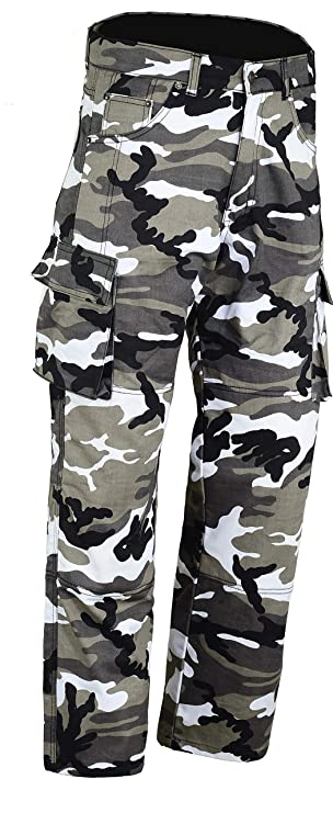 New BG Cargo Camo Kevlar Motorcycle Jeans CE Armoured Size 38 R