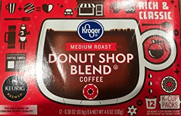 Kroger Medium Roast Donut Shop Blend Coffee 12 Count K Cups 4 Pack