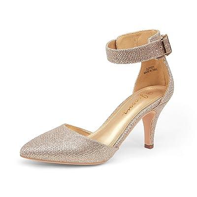 JEOSSY Women's Pumps Low Heel Dress Shoes Pointed Toe Comfortable Kitten Heels Pump | Pumps
