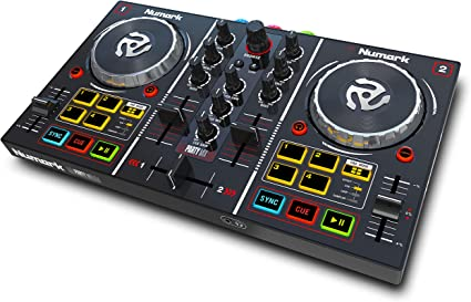 Amazon.com: Controlador DJ de la marca Numark, modelo Party Mix para principiantes, Negro: Musical Instruments