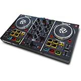 Numark Party Mix | Complete DJ Controller Set for Serato DJ with 2 Decks, Party Lights, Headphone Output, Performance Pads an