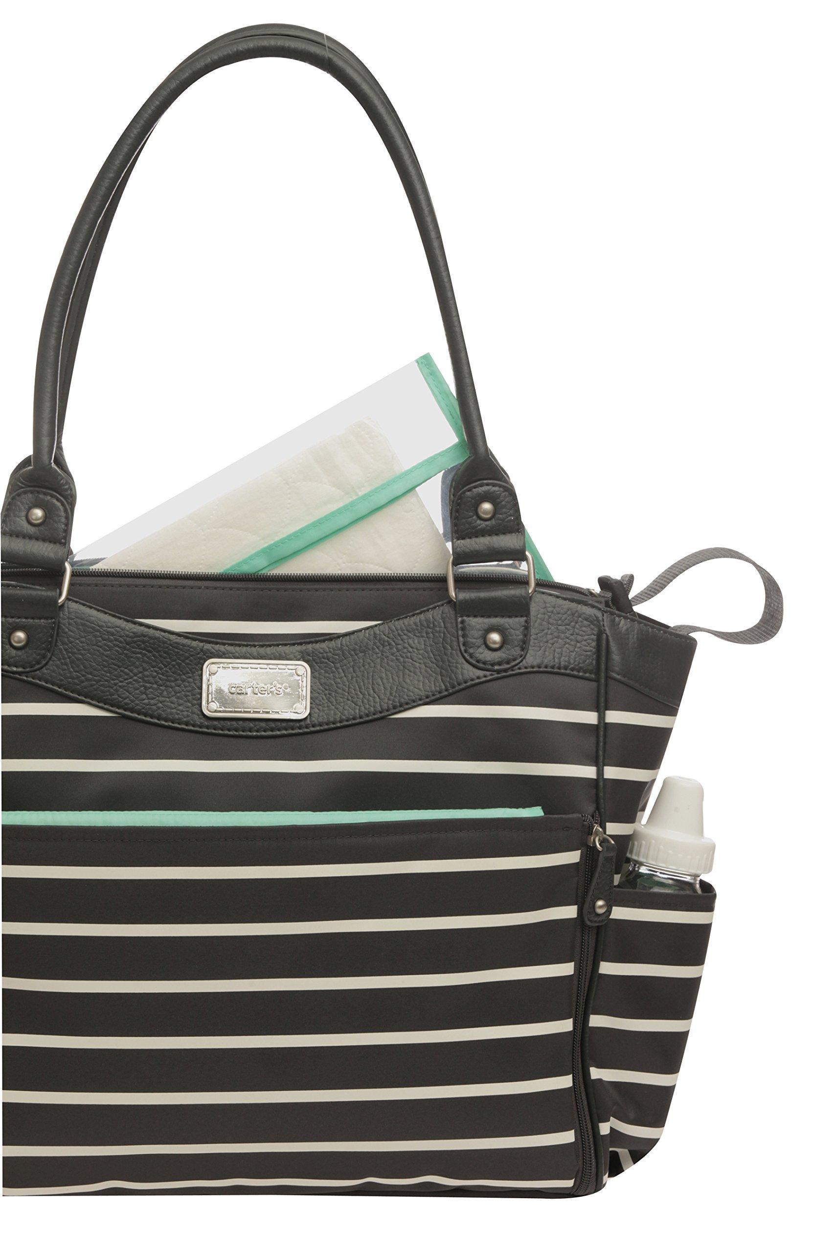 galleon carter 39 s zip fashion diaper bag front stripe. Black Bedroom Furniture Sets. Home Design Ideas