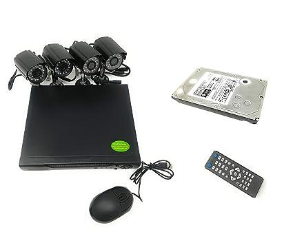 Kit de videovigilancia H264 CCTV de 4 canales con cámara ...