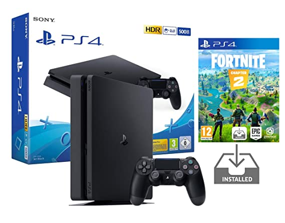 PS4 Slim 500Gb Negra Playstation 4 Consola Pack + Fortnite ...
