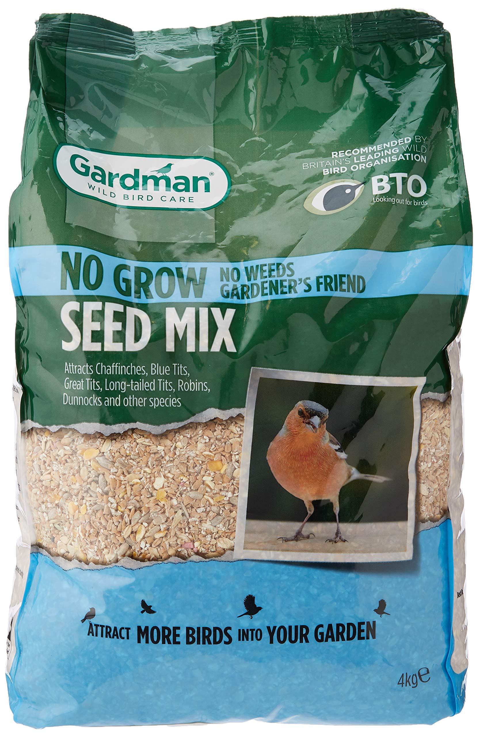 Gardman No Grow Seed Mix Bird, Natural, 20 x 14 x 34 cm