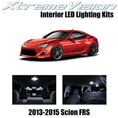 XtremeVision Interior LED for Scion FR-S FRS 2013-2015 (10 Pieces) Pure White Interior LED Kit + Installation Tool: Automotive