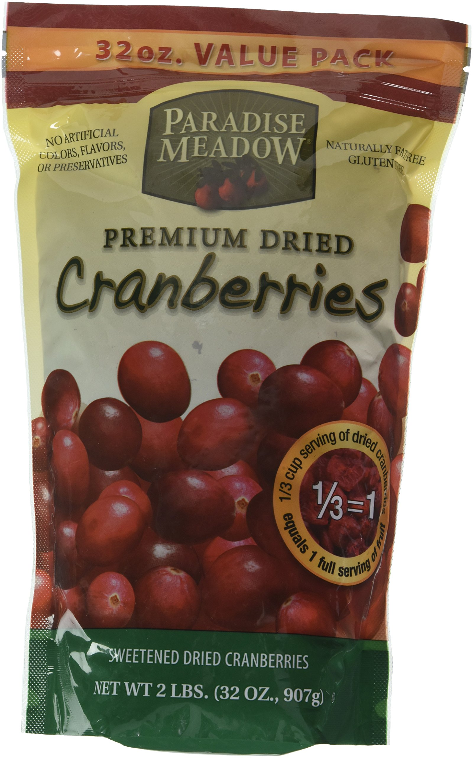 Paradise Meadow Premium Dried Cranberries, 32 Ounce by Paradise Meadow