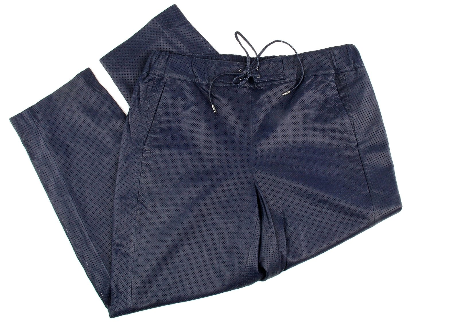 J Crew Collection Pull on Pant in Perforated Leather Size 4 Style E1672