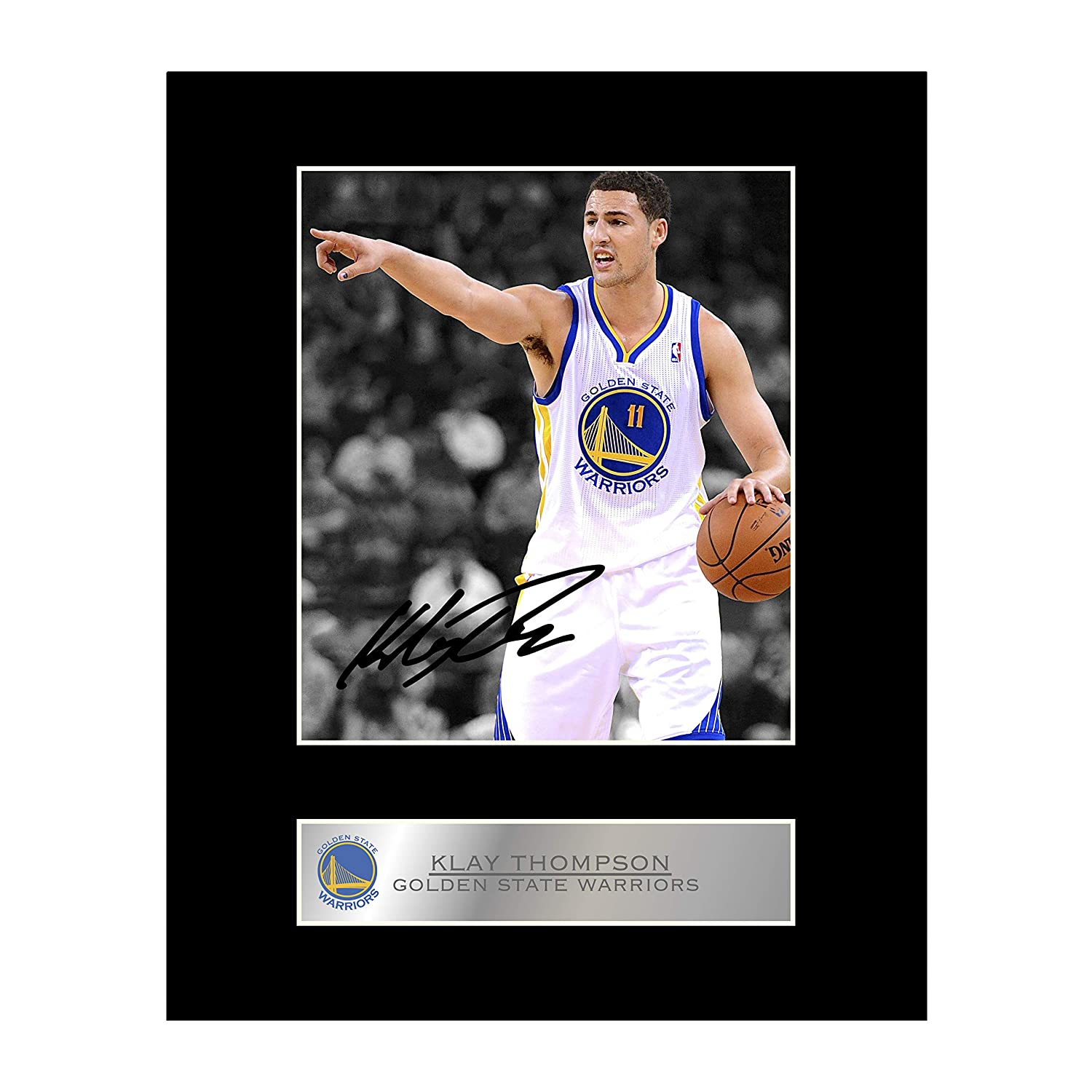 iconic pics Klay Thompson Signed Mounted Photo Display Golden State Warriors