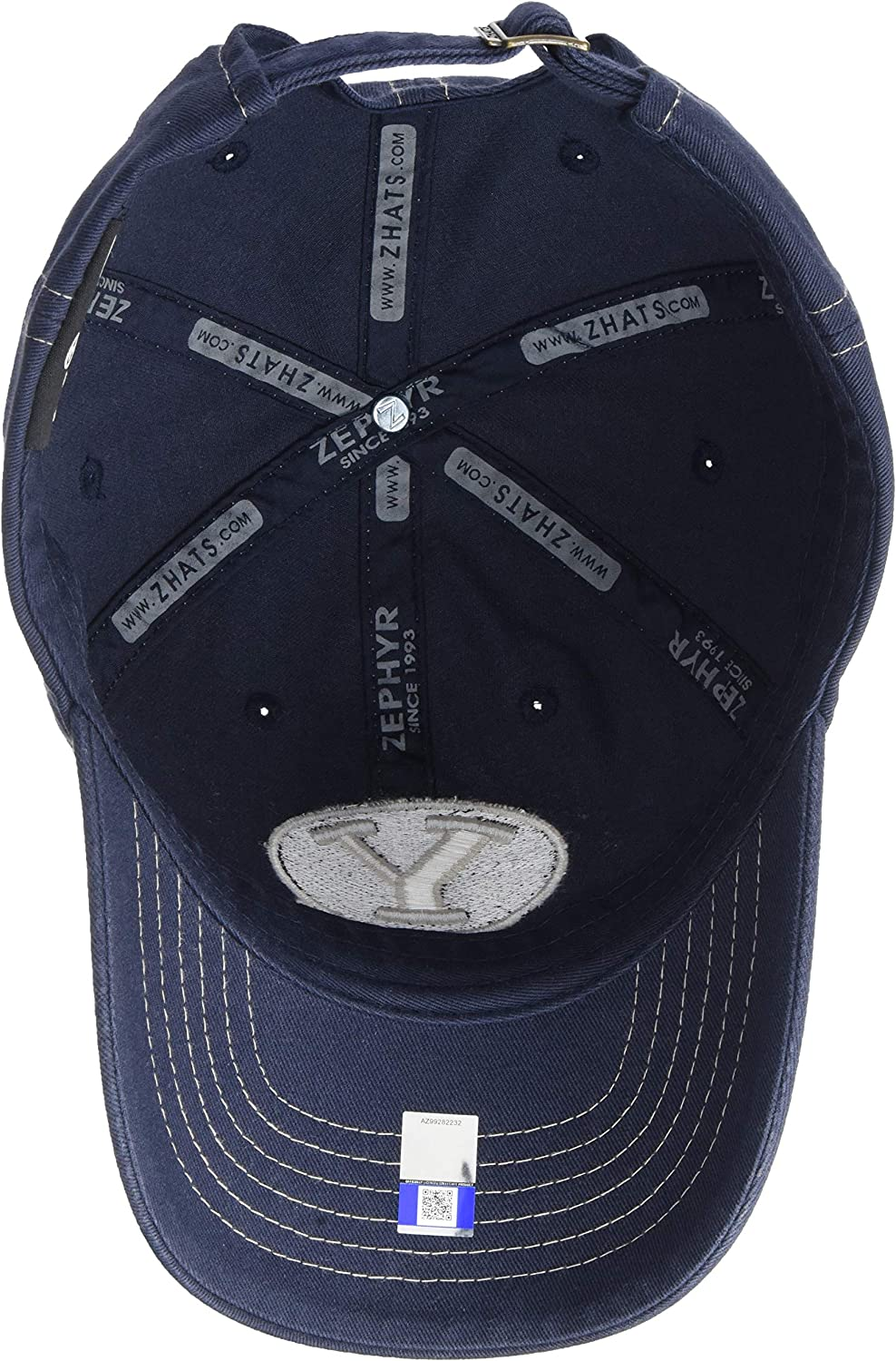 Primary Team Color NCAA Zephyr BYU Cougars Mens Solo Washed Cotton Relaxed Hat Adjustable
