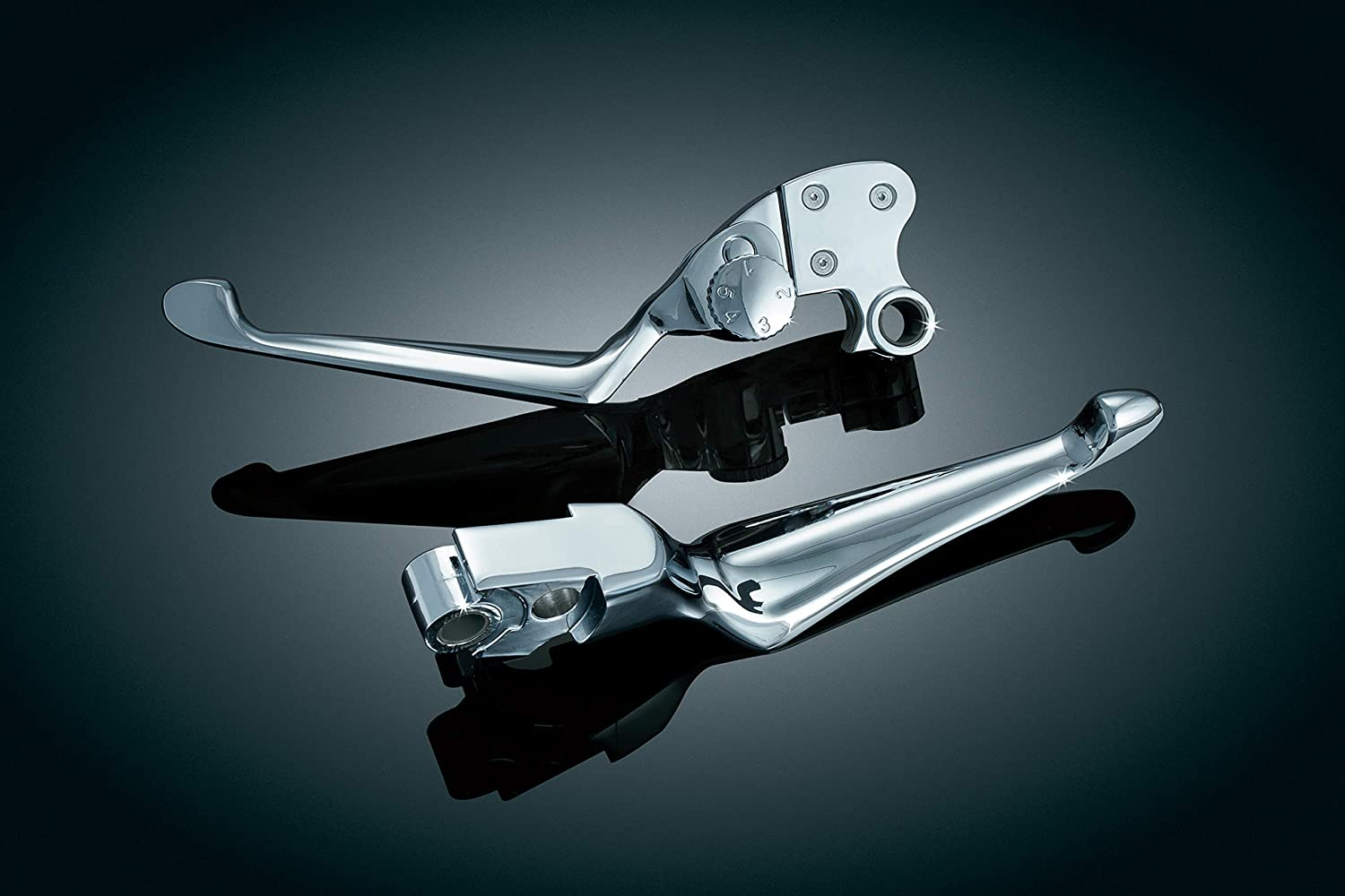 Gloss Black Clutch and Brake Trigger Levers for 1996-2017 Harley-Davidson Motorcycles with Cable Clutch Kuryakyn 1845 Motorcycle Handlebar Accessory 1 Pair