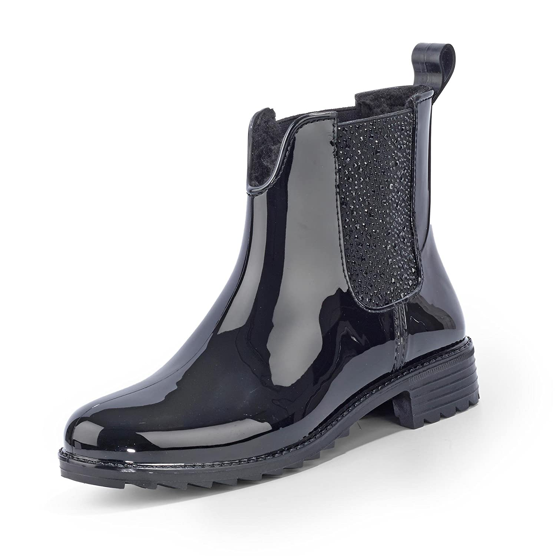 Rieker P8280, Botas de Lluvia para Mujer Negro