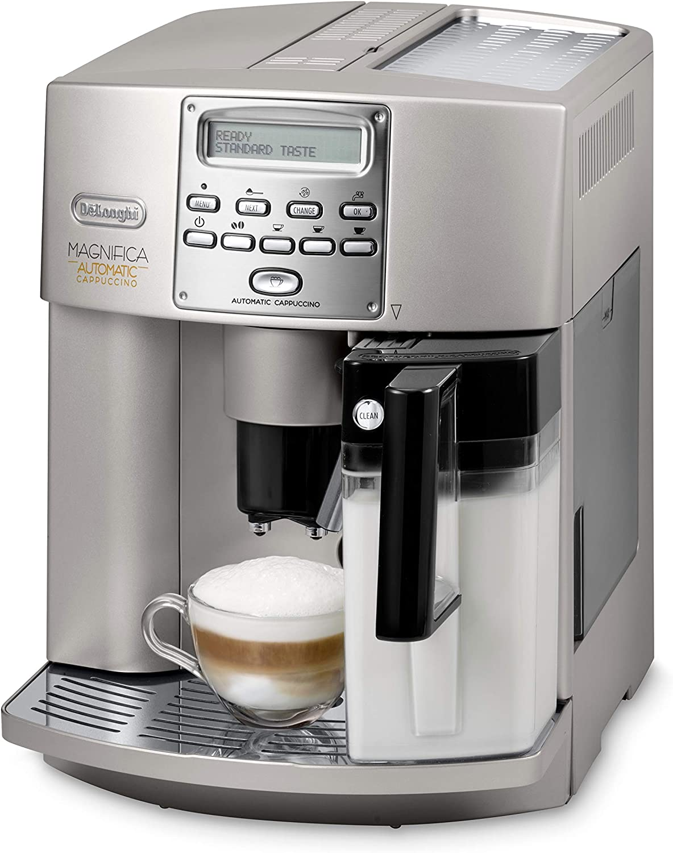 Delonghi Magnifica ESAM3500 Maquina De Espresso, 1350 W, 1.8 Litros, Acero Inoxidable, Gris: Amazon.es: Hogar