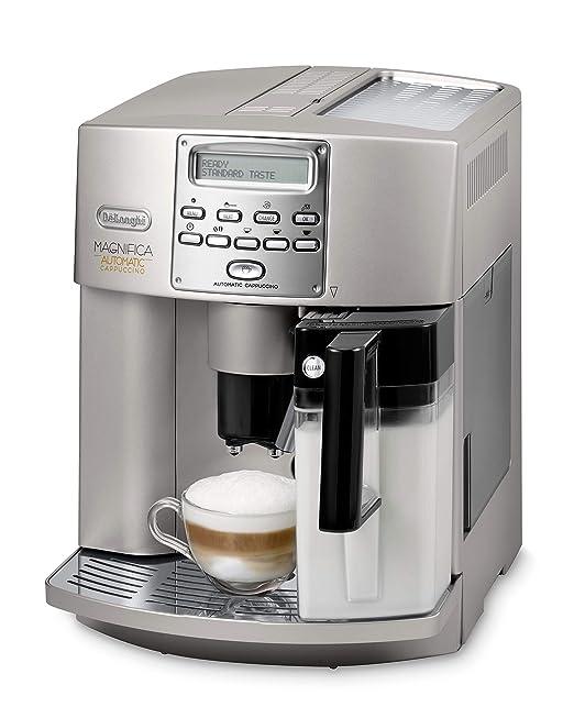 Delonghi Magnifica ESAM3500 Maquina De Espresso, 1350 W, 1.8 Litros, Acero Inoxidable, Gris