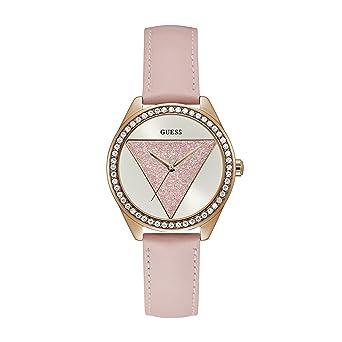 Guess Reloj Analógico para Mujer de Cuarzo con Correa en Cuero W0884L6: Amazon.es: Relojes