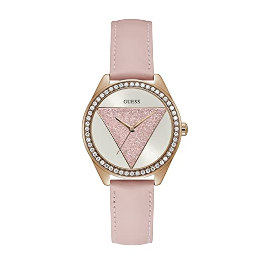aee0e6882 Guess Womens Analogue Quartz Watch with Leather Strap W0884L6:  Amazon.co.uk: Watches