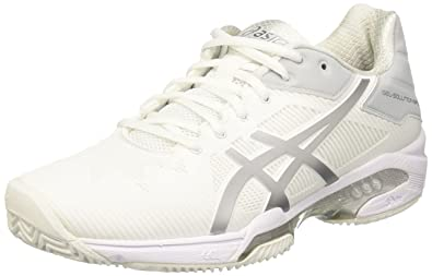 ASICS Damen Gel-Solution Speed 3 Clay Turnschuhe, Elfenbein (White ...
