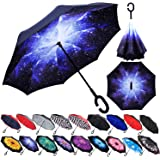 With C-Shaped Handle UV Protection Inverted Folding Umbrellas Windproof And Rainproof Double Folding Inverted Umbrella Sailor Moon Cartoon Car Reverse Umbrella