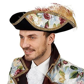 Piraten Dreispitz Hut Mit Blumen Und Feder Filz Kostum Zubehor