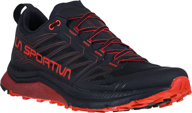 La Sportiva Jackal Mountain Zapatillas para correr - Hombre Negro/Poppy 44.5: Amazon.es: Zapatos y complementos