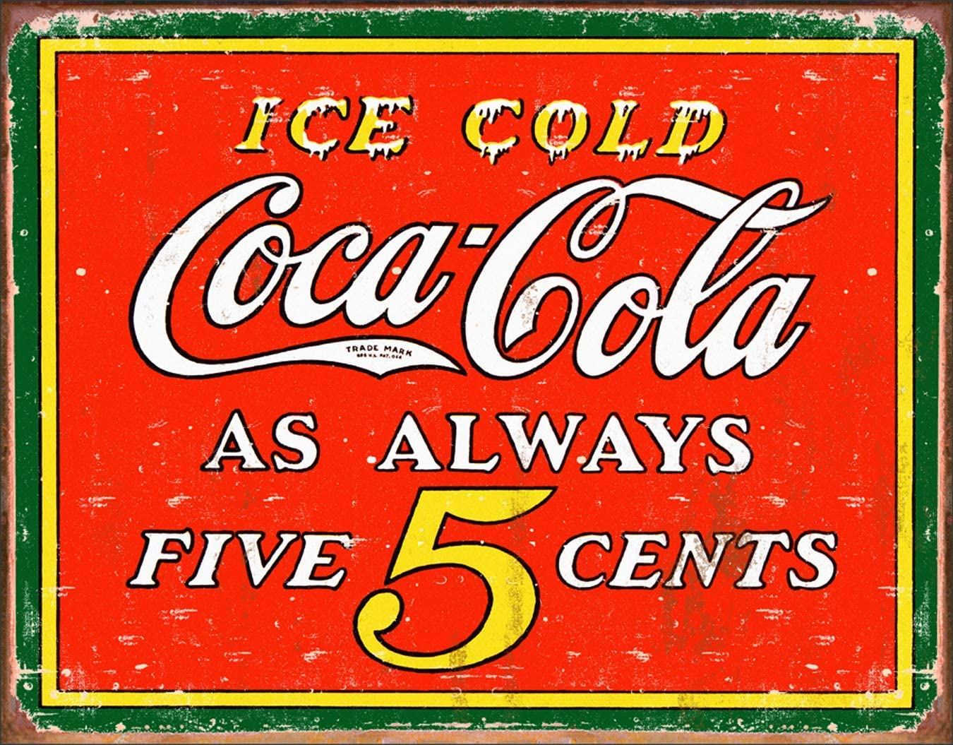 uwuzihuisho Coca-Cola Hot Dog Classico Metallo Targa Vintage Bar Cafe Retro Targa Garage Metallo Decorazioni #1