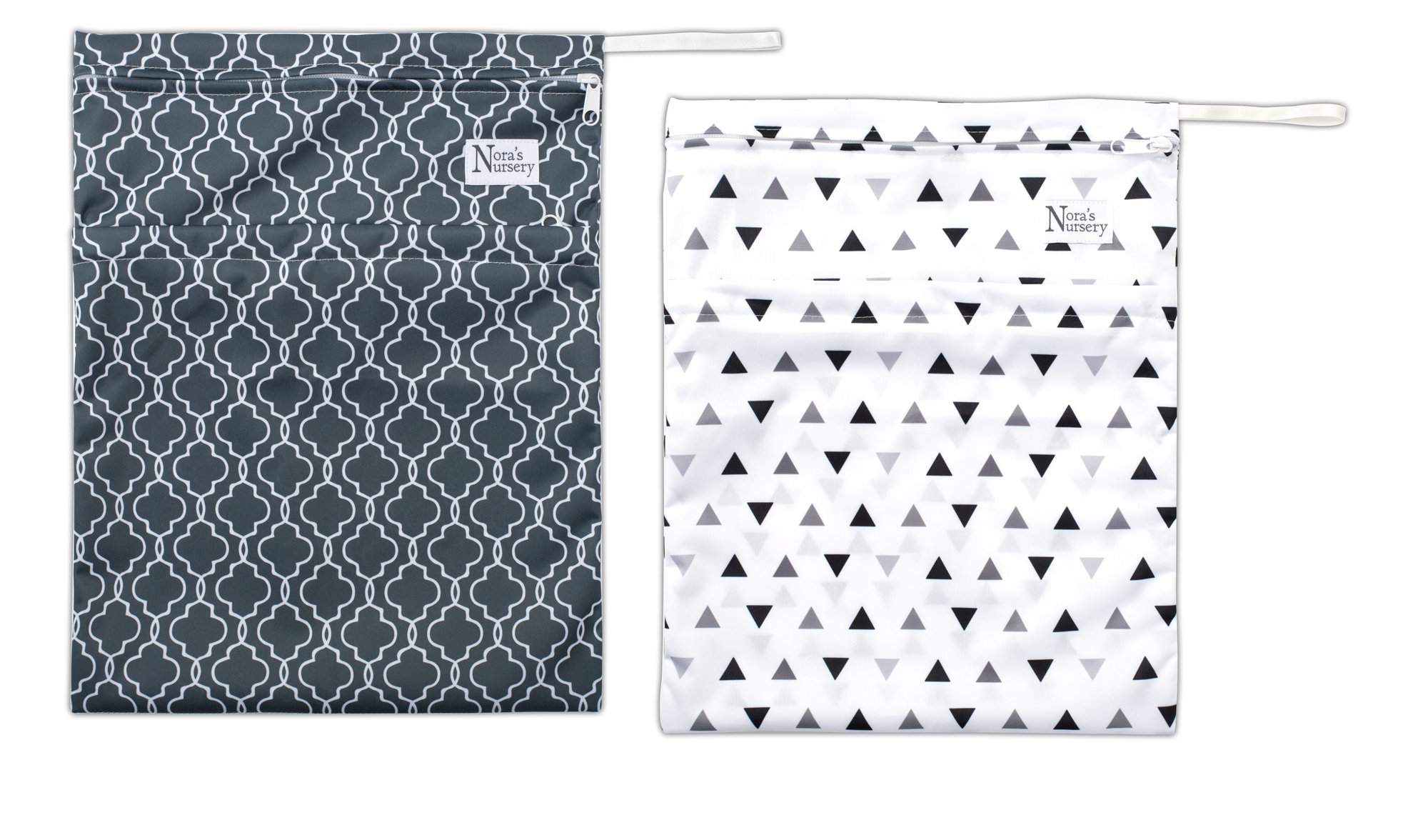 Unisex Wet Bags for Baby Cloth Diapers and Inserts (2 Pack) by Nora's Nursery