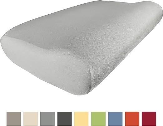 EddaLux - Funda para almohada cervical, de alta calidad, para almohada cervical, 100 % algodón, varios colores, platino, 55 x 35 cm: Amazon.es: Hogar