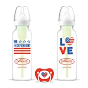Dr. Brown's Options Holiday Baby Bottles with One Bonus Prevent Pacifier, Mr. Independent, 8 Ounce