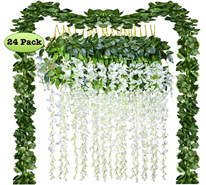 Festive & Party Supplies Artificial Vine Rattan Fake Leaves Plant For Wedding Garland Home Party Decor Home & Garden