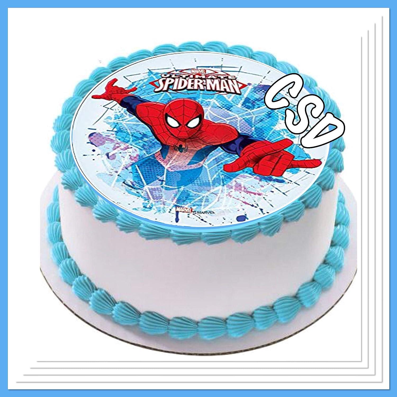 Tortenaufleger Spiderman 04 Amazon De Kuche Haushalt