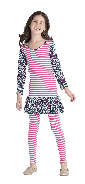 Masala Kids Girls' Organic Dream Stripe Dress
