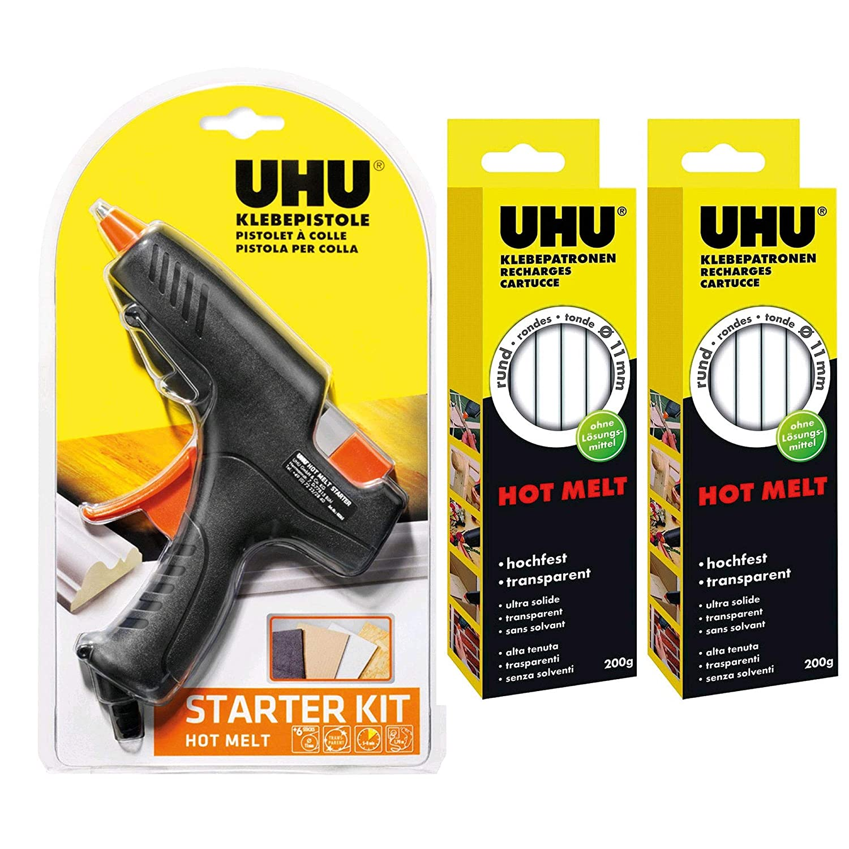 UHU 47865 Klebepatronen, Hot Melt, 200 g, transparent