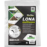 Criscolor 41317 Lona Multiuso 10x12m, Blanca