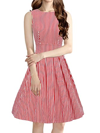 dce5fda11b2 Image Unavailable. Image not available for. Color  LUOUSE  Lana  Vintage  1950 s Inspired Rockabilly Swing Dress ...