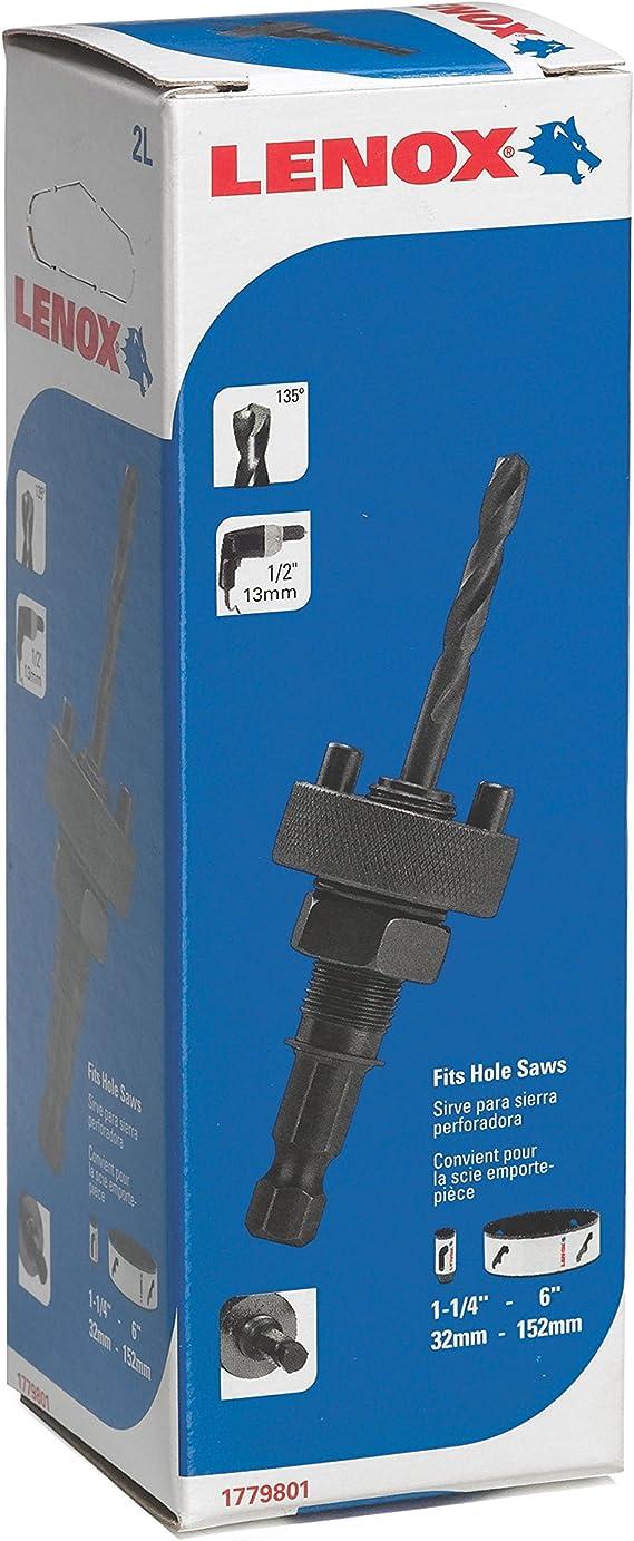 "Lenox 3L 1779802 1//2/"" hole saw arbor mandrel fits 1 1//4/"" 6/"" hole saws NEW"