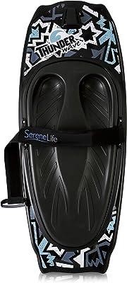 SereneLife Water Sport Kneeboard with Hook for Kids & Adults, Kneeboard with Strap for Boating, Waterboarding, Kneeling Boogie Boarding, Knee Surfing