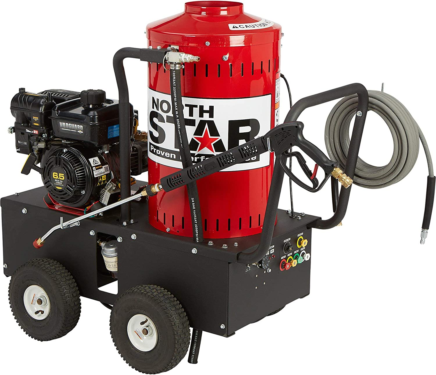 NorthStar Gas Wet Steam and Hot Water Pressure Washer - 2700 PSI, 2.5 GPM, Briggs & Stratton Engine