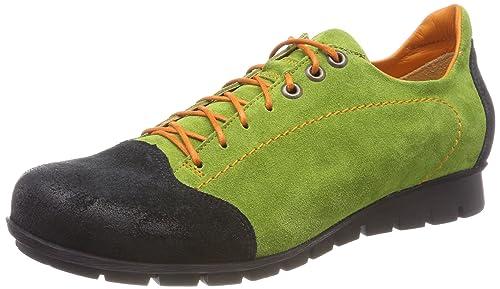 Think Menscha_282073, Zapatos de Cordones Derby para Mujer, Rojo (Rosso/Kombi 72), 36 EU