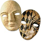 D/écopatch Mache Frida Mask Brown 7x20x20 cm