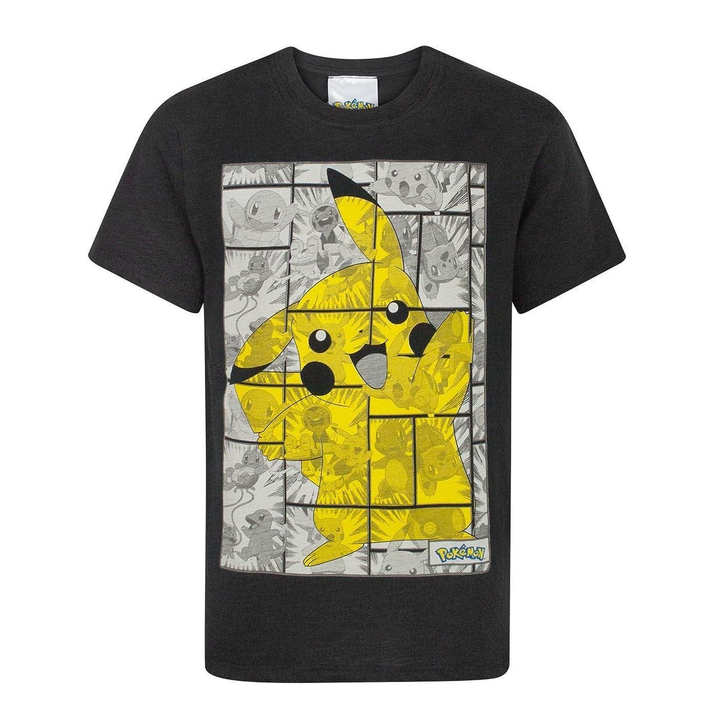 Pokemon Childrens/Boys Official Pikachu Panel Design T-Shirt UTNS369_4