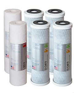 APEC Water Systems APEC Ultimate Series US Made 2 Sets of Stage 1, 2 & 3 Replacement Undersink System(Filter-SETX2)