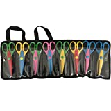 Exerz 8 PCS DIY Art & Craft Scissors with a Carrying Bag/Pocket Decorative Edge for Kids Fun Scrapbooking Pattern Scissors (EX-CC8)