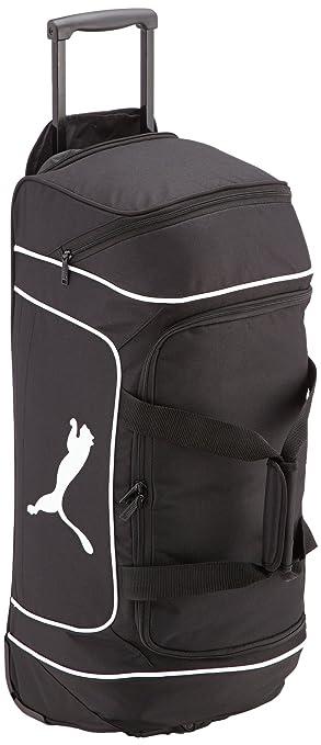 aeeb1ba9855a Puma All Ages Team Cat Medium Wheel Bag Team Sport Rucksack black white  Size
