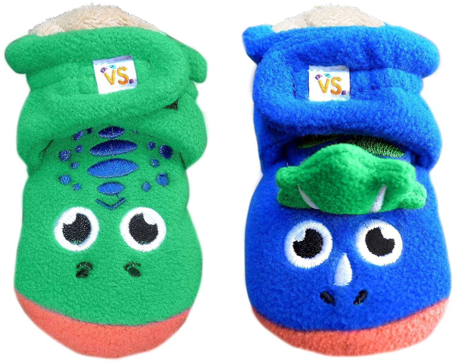Multicolor-6-12M Booties: T-Rex vs Triceratops Vs Stuff Vs