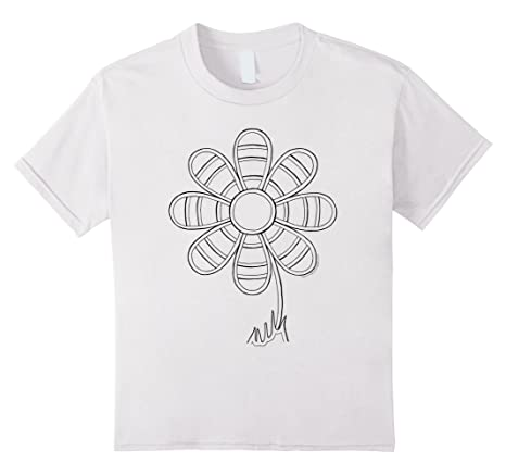 Flower T-Shirt to color in