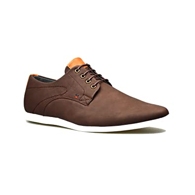 ff8ed74a325f Mens New Casual Black Leather Smart Suede Formal Lace Up Shoes UK Sizes 6 7  8 9 10 11  Amazon.co.uk  Shoes   Bags