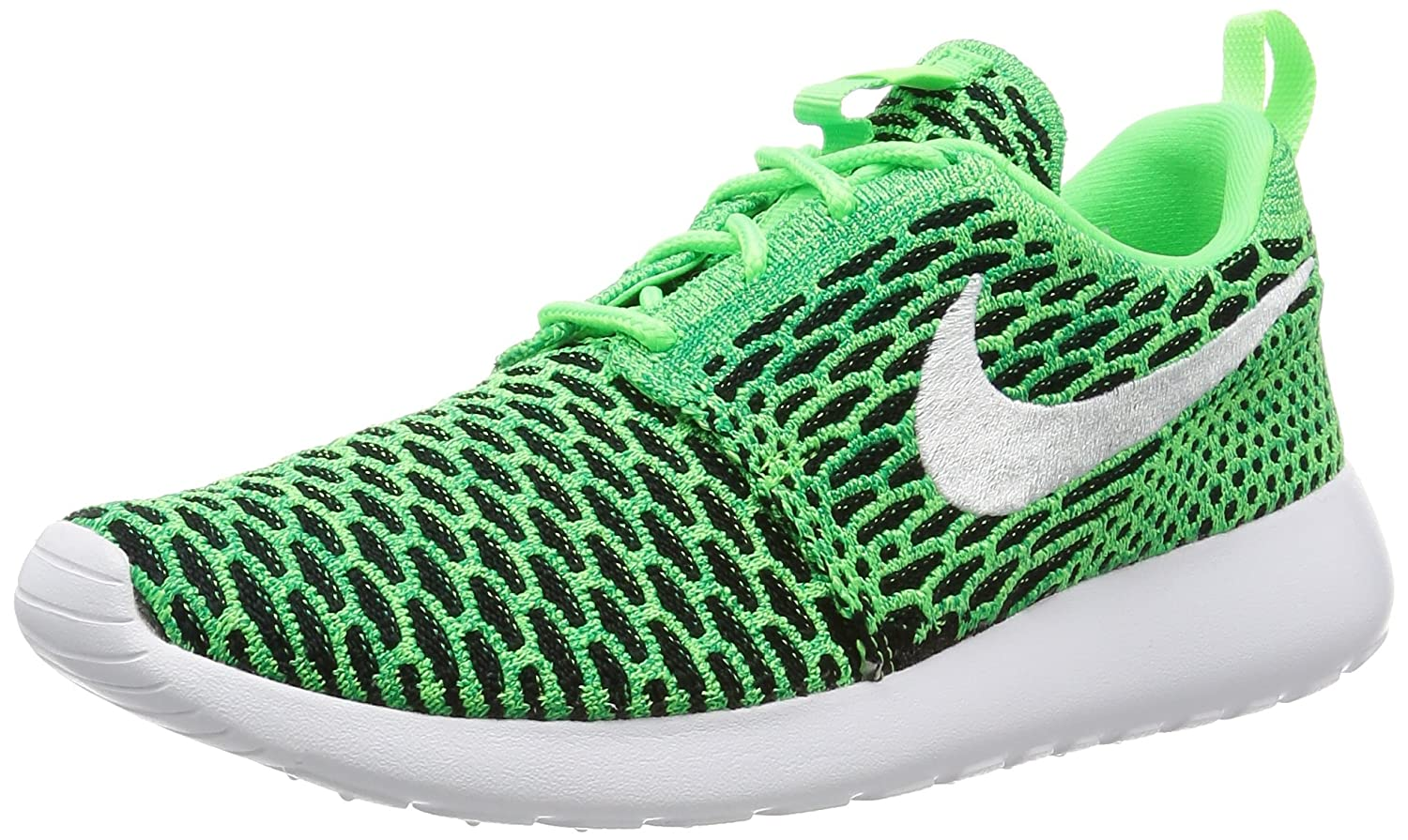 NIKE Womens Roshe One Flyknit Flyknit Colorblock Running Shoes B01HQSKF7G 8.5 M US|Voltage Green/White-lucid Green