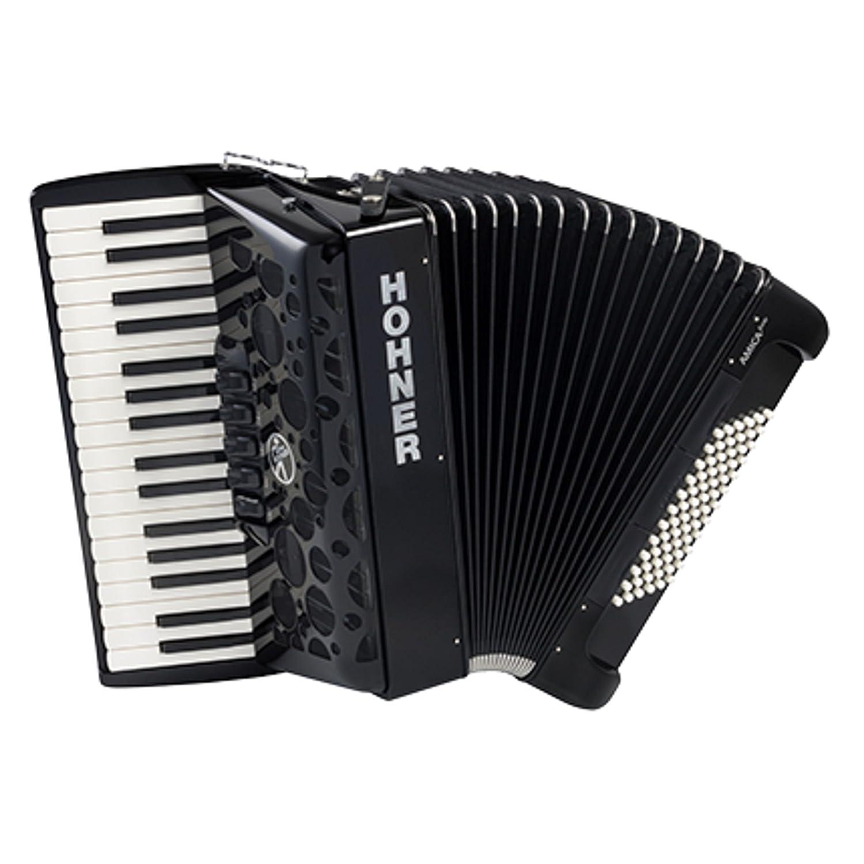 Amica III 72 Piano-Akkordeon nero, silent key