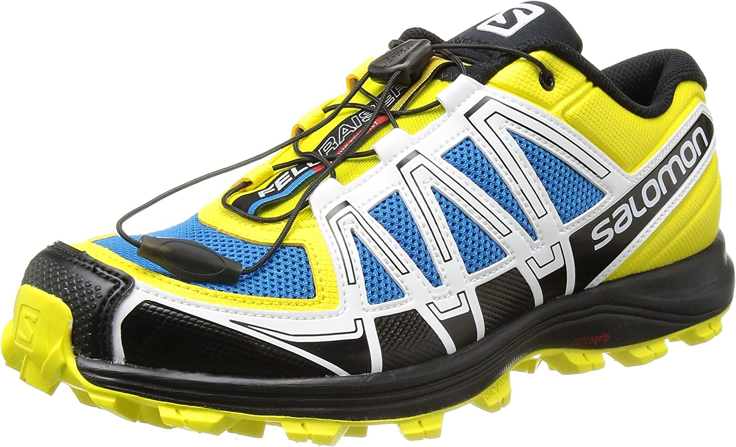 SALOMON Fellraiser Zapatilla de Trail Running Caballero, Amarillo/Negro, 49 1/3: Amazon.es: Zapatos y complementos